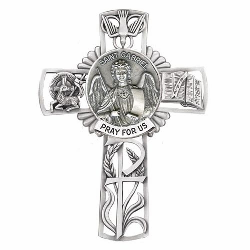 Jeweled Cross St Gabriel Bethany Collection Pewter Wall Cross