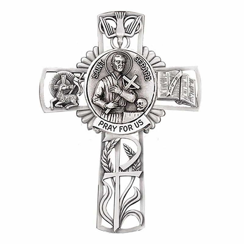 Jeweled Cross St Gerard Bethany Collection Pewter Wall Cross