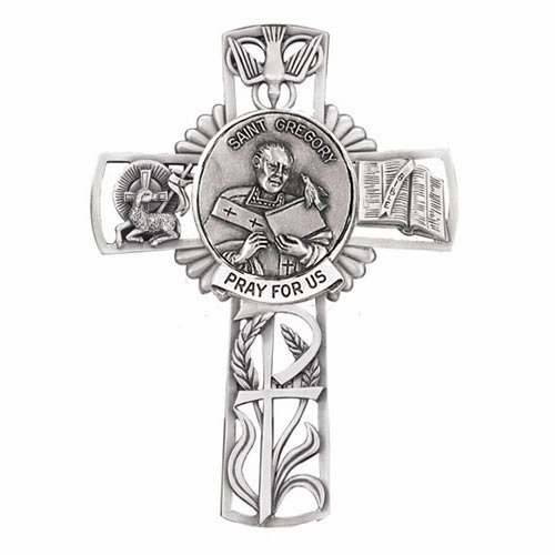 Jeweled Cross St Gregory Bethany Collection Pewter Wall Cross