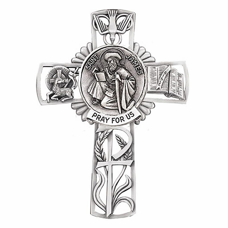 Jeweled Cross St James Bethany Collection Pewter Wall Cross