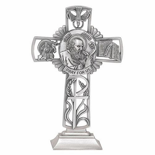 Jeweled Cross St John Bethany Collection Pewter Standing Cross