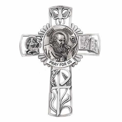 Jeweled Cross St John Bethany Collection Pewter Wall Cross