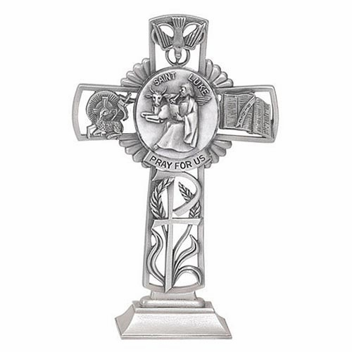 Jeweled Cross St Luke Bethany Collection Pewter Standing Cross