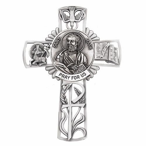 Jeweled Cross St Mark Bethany Collection Pewter Wall Cross