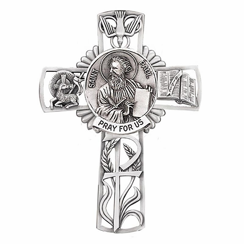 Jeweled Cross St Paul Bethany Collection Pewter Wall Cross