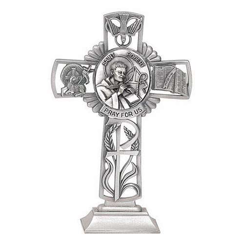 Jeweled Cross St Robert Bethany Collection Pewter Standing Cross