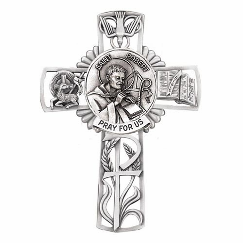 Jeweled Cross St Robert Bethany Collection Pewter Wall Cross