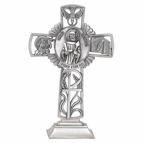Jeweled Cross St Thomas Bethany Collection Pewter Standing Cross