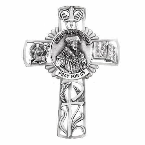 Jeweled Cross St Thomas More Bethany Collection Pewter Wall Cross