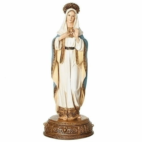 Joseph Studio 10.5in Immaculate Heart of Mary Statue by Roman Inc
