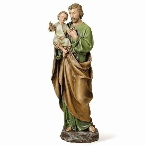 Joseph Studio 14in Patron Saint Joseph with Child Jesus Figure by Roman