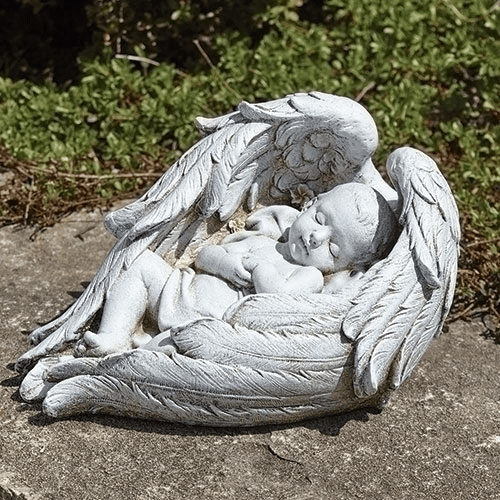 Joseph Studio 6in Baby Sleeping in Angel Wings Garden Statue by Roman Inc