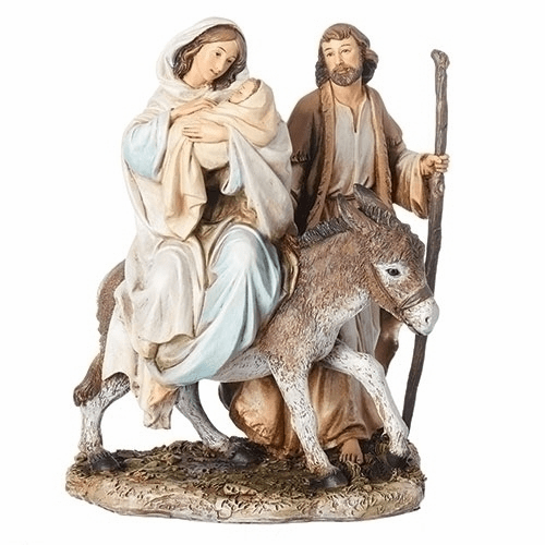 Joseph Studio 8.25in Holy Family Flight into Egypt Statue by Roman Inc