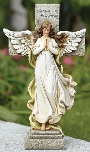 Joseph Studio Forever with the Angels Cross w/Angel Garden Statue by Roman