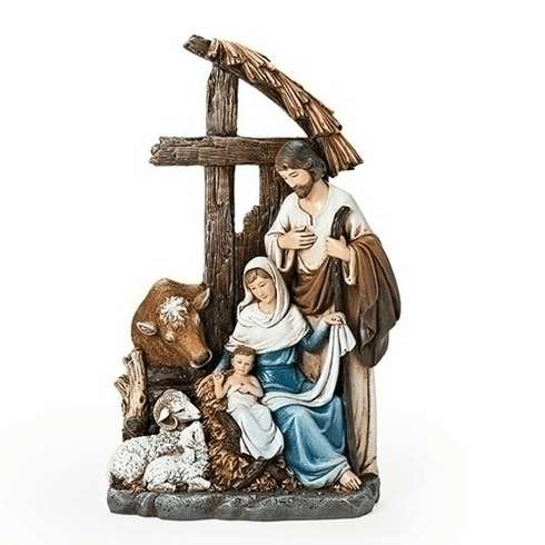 Joseph Studio Holy Family Christmas Nativity Figure with Stable by Roman