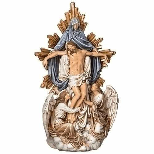 Joseph Studio Jesus Christ and Mary with the Angels Statue by Roman Inc