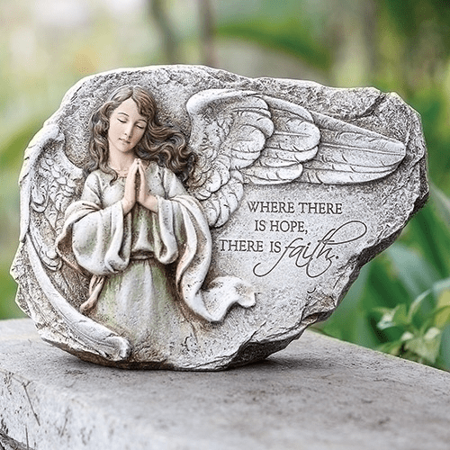 Joseph Studio Praying Angel w/Verse Garden Statue by Roman Inc