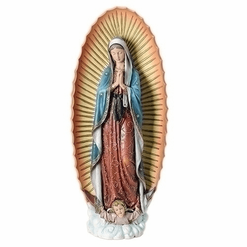 """Joseph Studio Resin 32""""H Our Lady of Guadalupe Statue by Roman"""