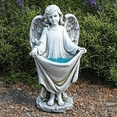 Joseph Studio Solar Angel Holding Dress Garden Statue by Roman Inc