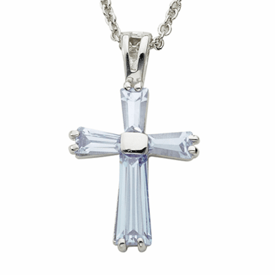 June Singer Alexandrite Birthstone Cross Necklace