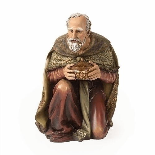 "Kneeling Wise Man 39"" Scale Colored Outdoor Christmas Nativity Figure by Joseph Studio"