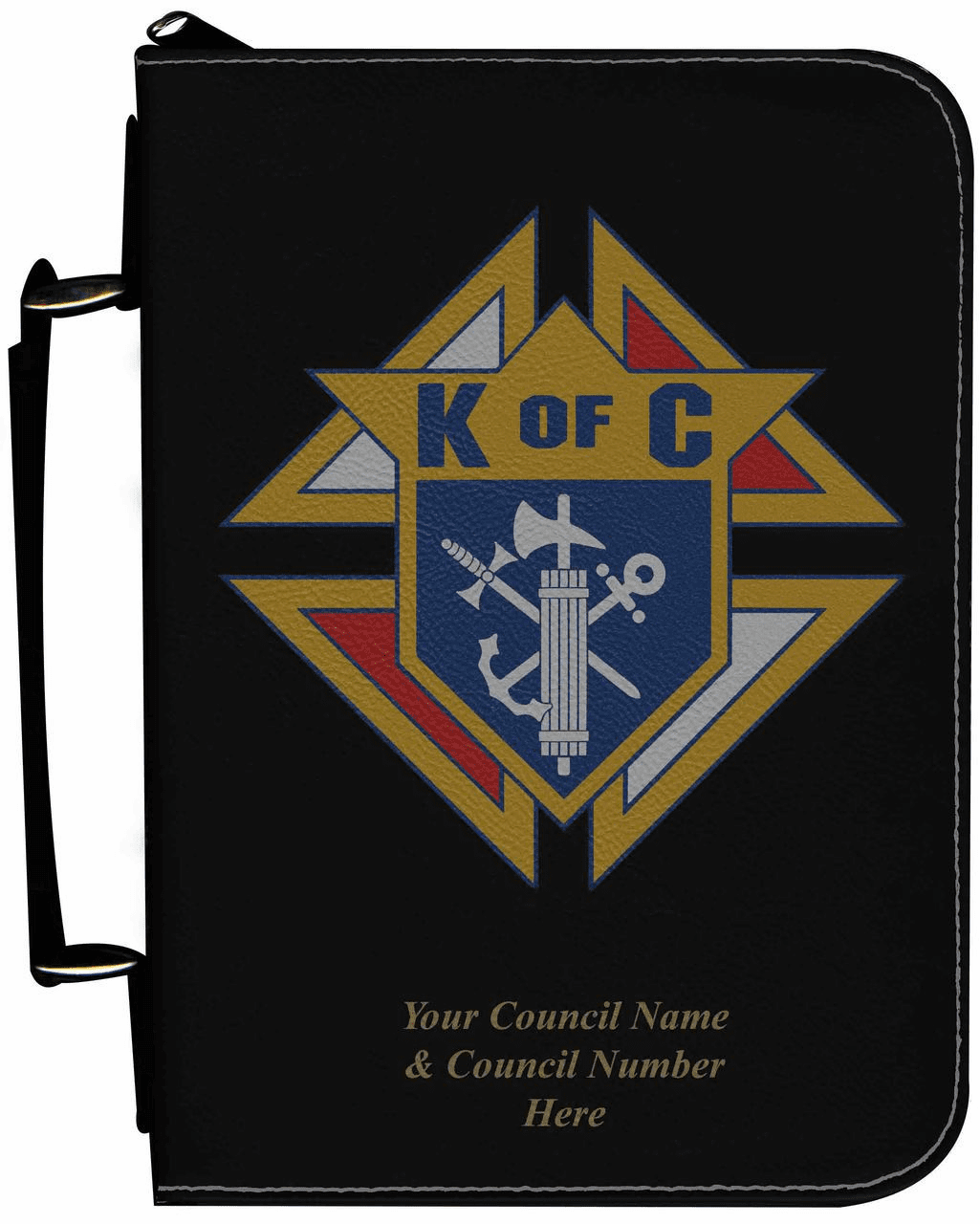 Knights of Columbus Personalized Black Catholic Bible Cover Case