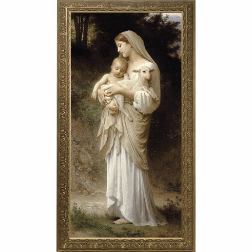 L'Innocence Church-Sized Framed Framed Canvas Art Wall Picture