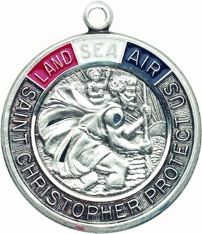 Land, Air & Sea Military Saint Medals