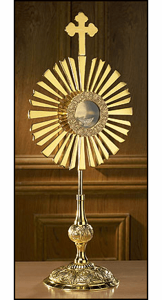 Large Brass Cross Monstrance with Luna by Stratford Chapel