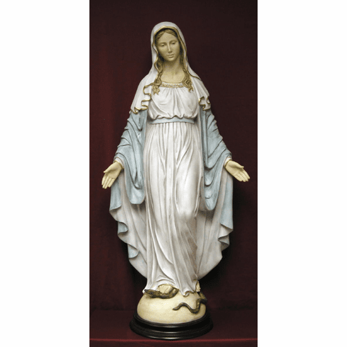 Large Italian Alabaster Our Lady of Grace Statue