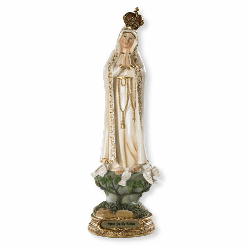 Large Our Lady of Fatima Catholic Figure Statue by Barcelona Collection
