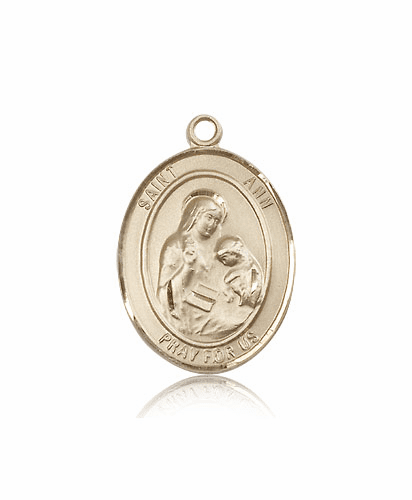 Large Patron Saint 14kt or 18kt Gold Patron Pendant Medal by Bliss