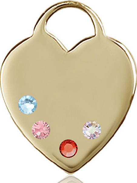 Large Swarovski Crystal Multi-Color Heart Necklace by Bliss