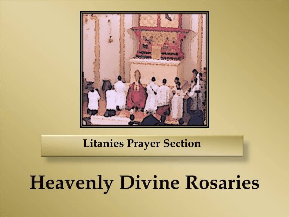 Litanies Prayer Section