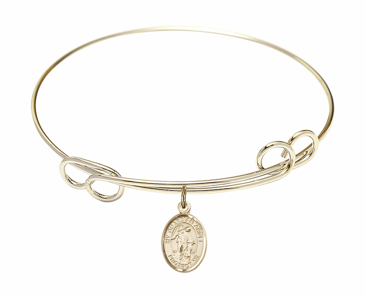 Loop Guardian Angel Bangle 14kt Gold-filled Charm Bracelet by Bliss