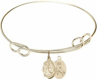 Loop Joseph of Cupertino Airplane Bangle 14kt Gold-filled Charm Bracelet by Bliss