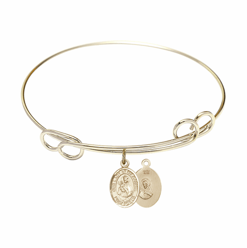 Loop Our Lady of Mount Carmel Bangle 14kt Gold-filled Charm Bracelet by Bliss