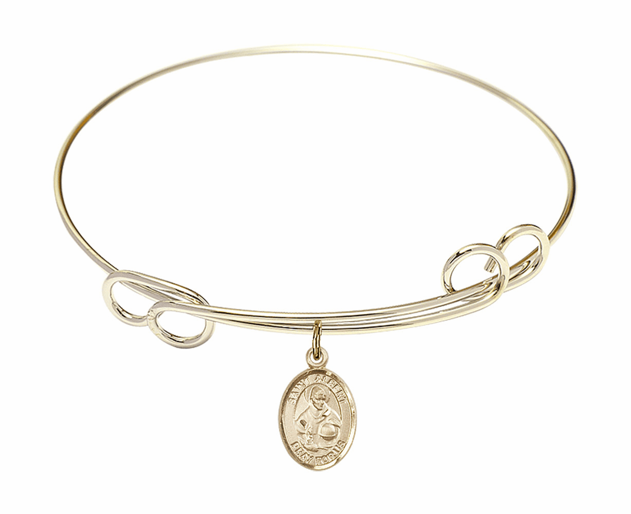 Loop St Albert the Great Bangle 14kt Gold-filled Charm Bracelet by Bliss