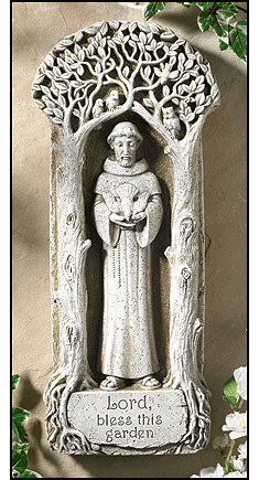 Lord Bless this Garden St Francis Wall Plaque by Avalon Gallery