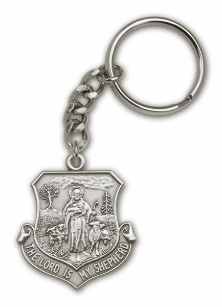 Lord Is My Shepherd Antique Gold or Silver Keychain by Bliss Manufacturing
