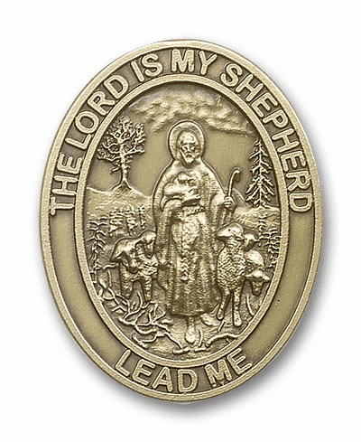 Lord is My Shepherd Car Visor Clip Medal by Bliss