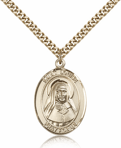 Louise de Marillac 14kt Gold-filled Saint Necklace by Bliss