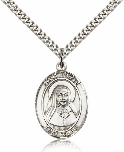 Louise de Marillac Silver-Filled Patron Saint Necklace by Bliss