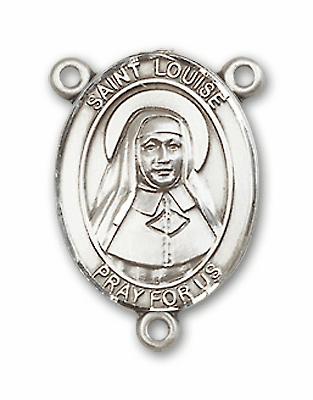 Louise de Marillac Sterling Silver Saint Rosary Center by Bliss