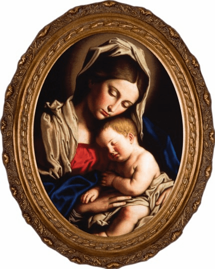 Madonna and Child Canvas Wall Art Picture by Nelson