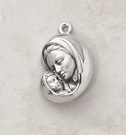 Madonna and Child Patron Saint Medal Necklace by Creed Jewelry