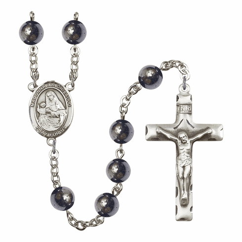 Madonna Del Ghisallo 8mm Hematite Gemstone Prayer Rosary by Bliss