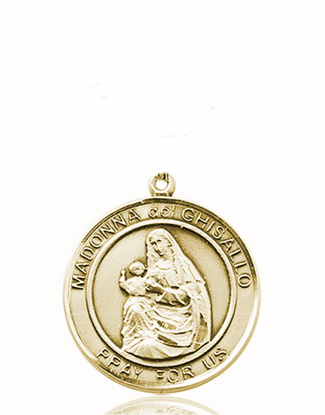 Madonna del Ghisallo Medium Patron Saint 14kt Gold Medal by Bliss