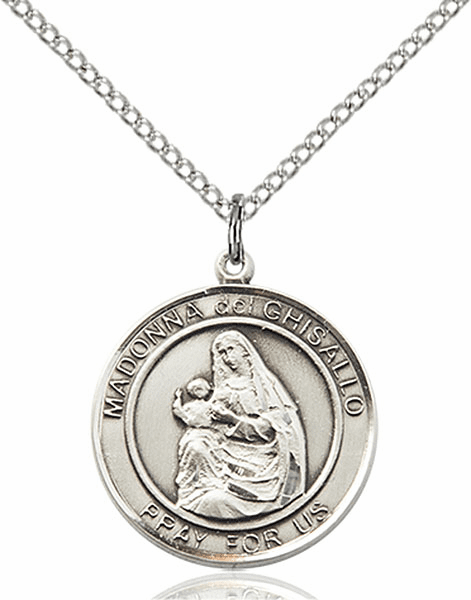 Madonna del Ghisallo Medium Patron Saint Sterling Silver Medal by Bliss