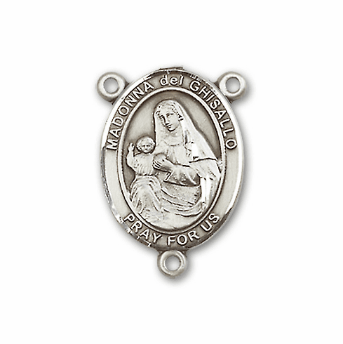 Madonna Del Ghisallo Sterling Silver Saint Rosary Center by Bliss